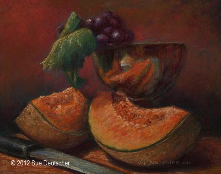 """""""Cantaloupe"""" original fine art by Sue Deutscher"""