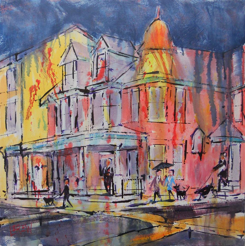"""""""Rainy Walk by Larry Lerew 121202"""" original fine art by Larry Lerew"""