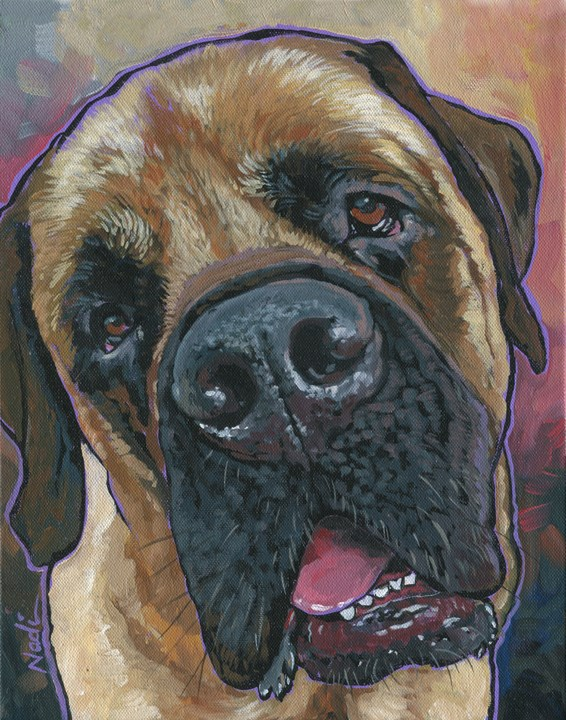 """Burton"" original fine art by Nadi Spencer"