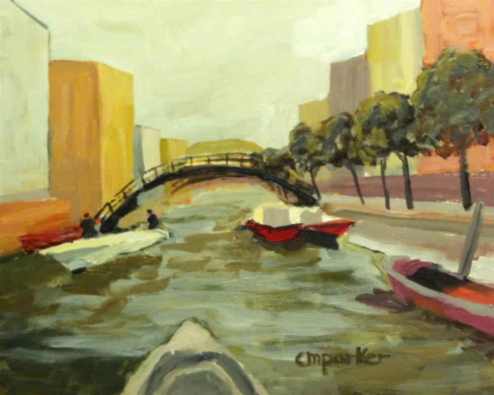 """Venice Canal"" original fine art by Christine Parker"