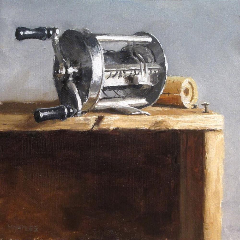 """Antique Fishing Reel"" original fine art by Michael Naples"