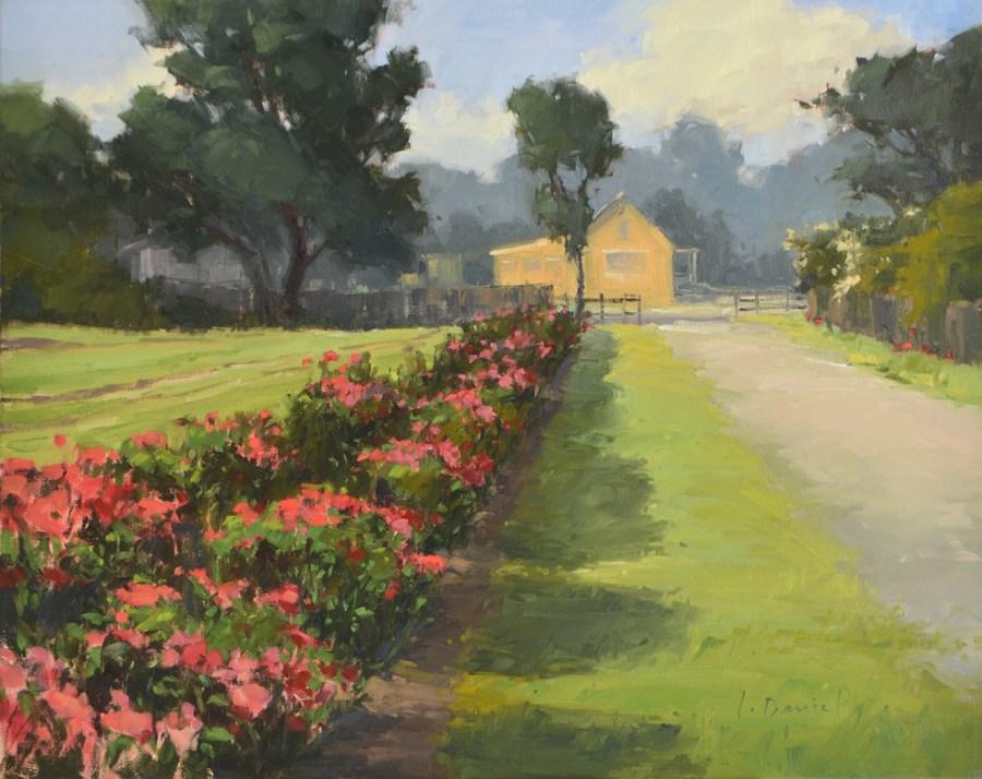 """Farmer's Flowers - Show Tip #20"" original fine art by Laurel Daniel"