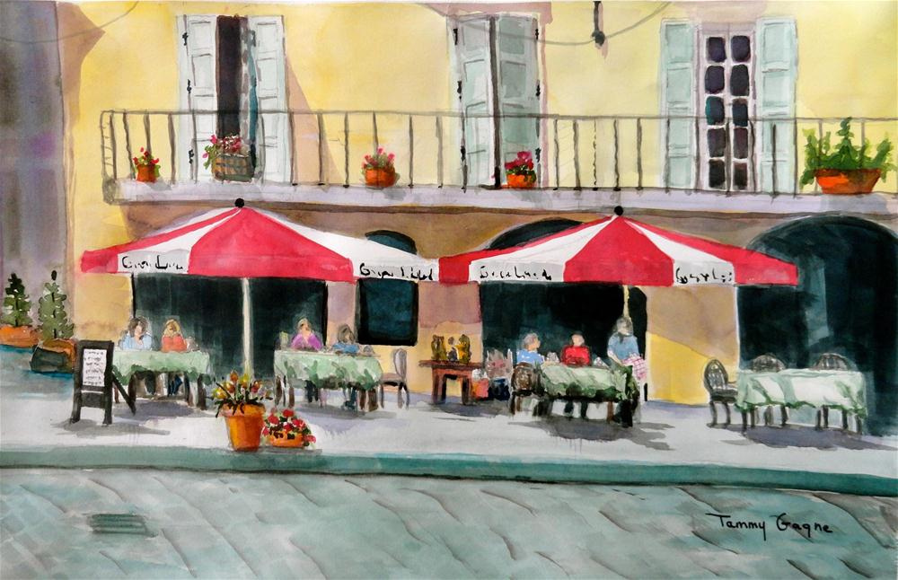 """Street Cafe"" original fine art by Tammy Gagne"