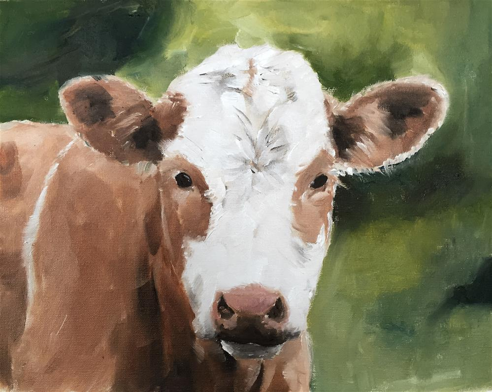 """Cow"" original fine art by James Coates"