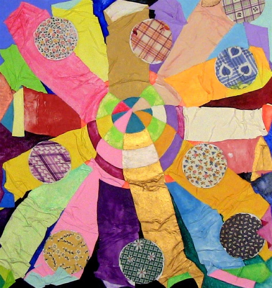"""Our Sun with Nine Planets"" original fine art by Lisa Fulton"