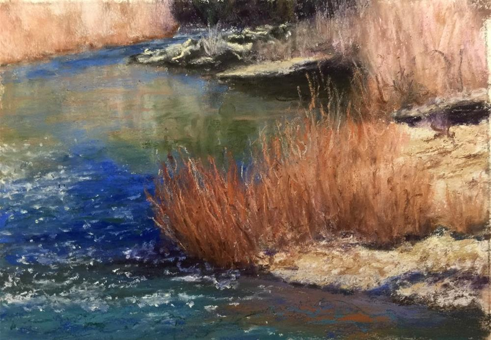 """River Willows"" original fine art by Marti Walker"