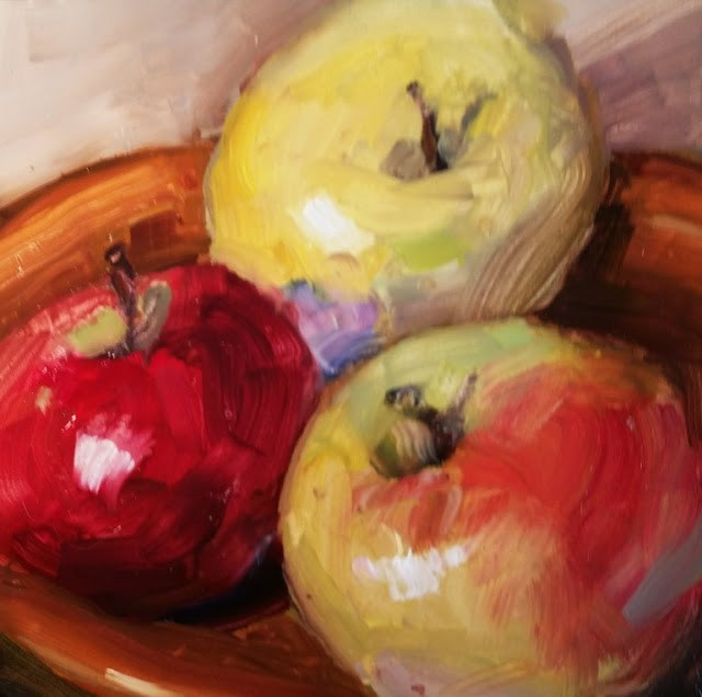 """The Three Apples"" original fine art by Wendy Starita"