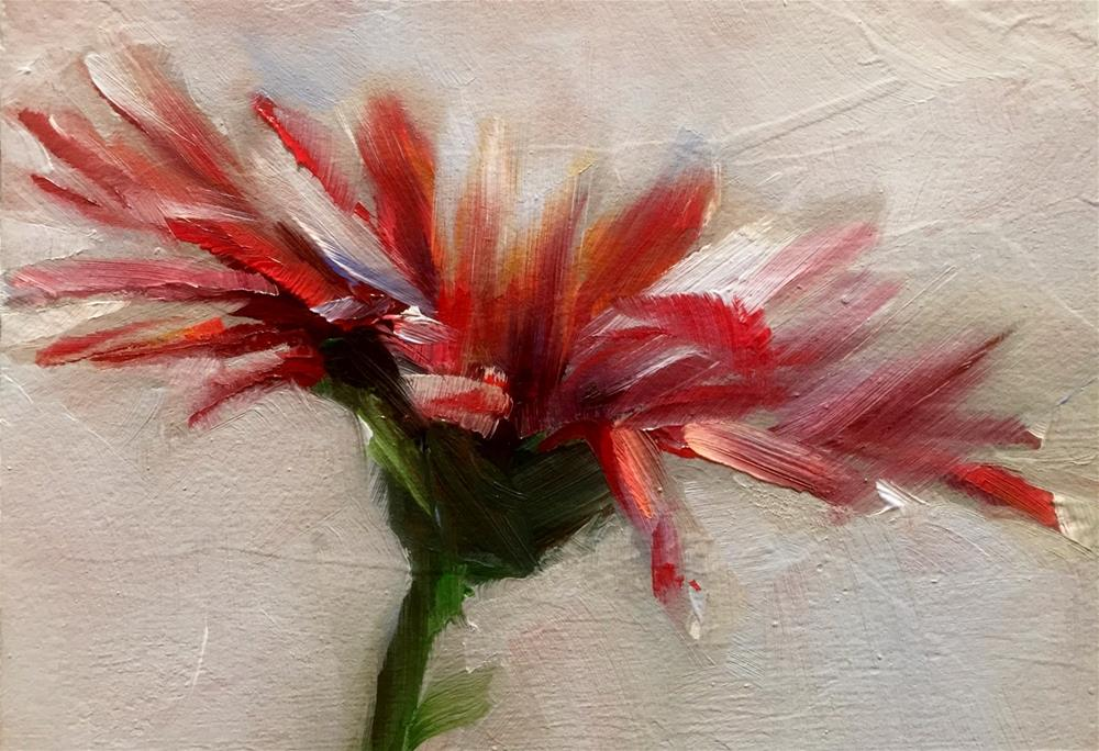 """Gerbera Study Impression"" original fine art by Gary Bruton"