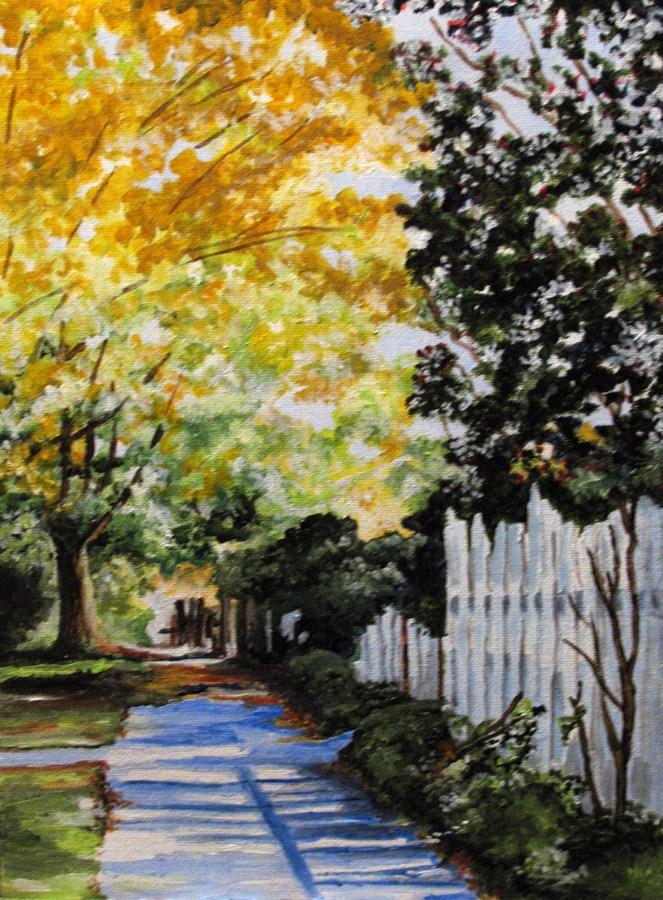 """Walk Along"" original fine art by Nan Johnson"