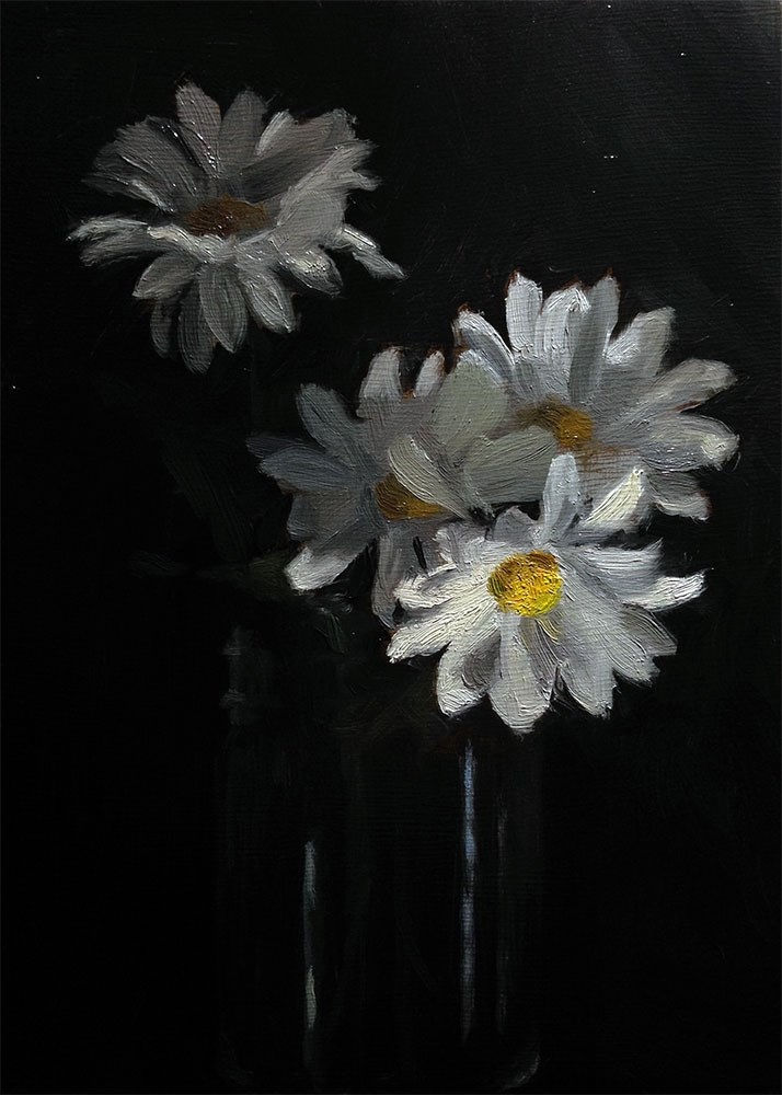 """4 Daisies"" original fine art by Chris Beaven"