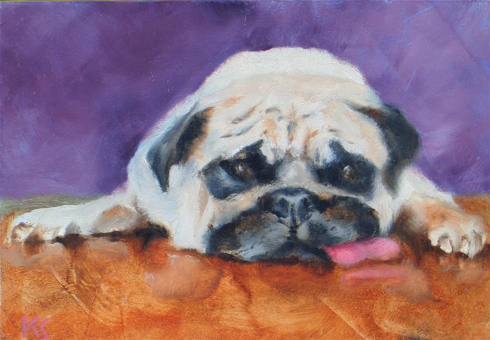 """TOO POOPED TO POP"" original fine art by Kris Stewart"