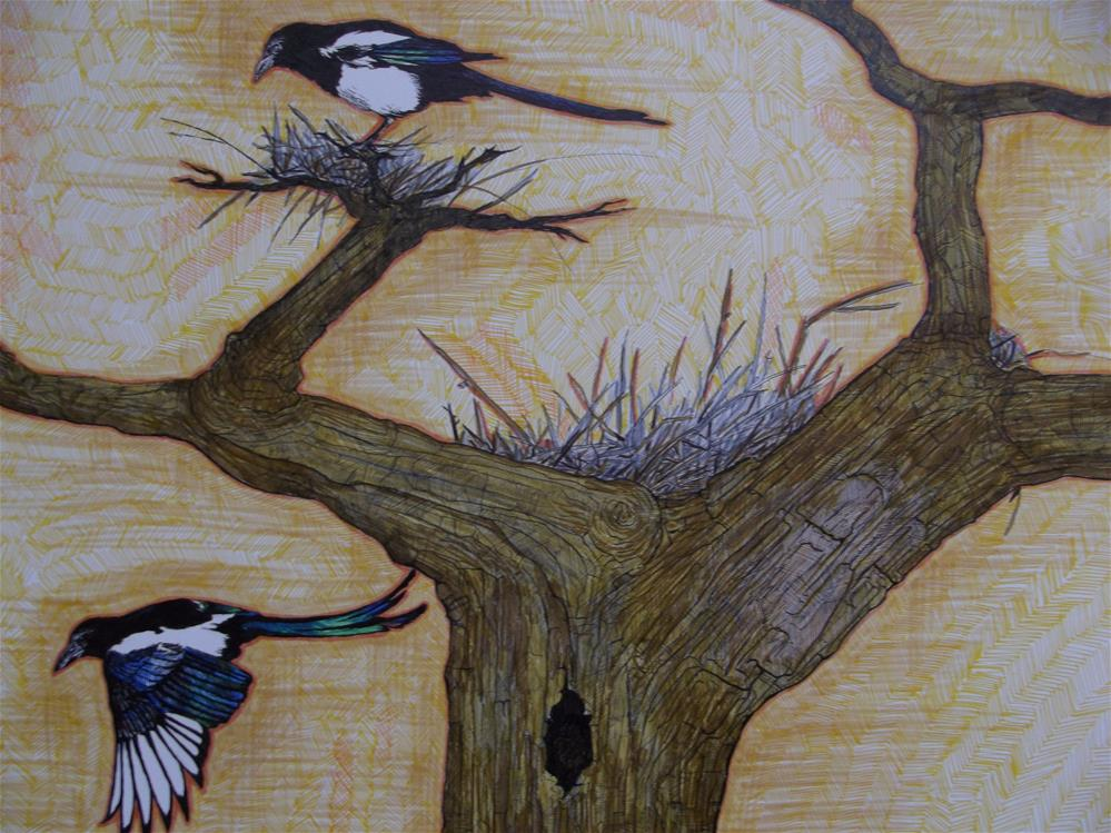 """Life in a Tree"" original fine art by wanda sigafus"