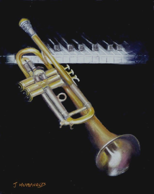 """Trumpet AGOGO"" original fine art by James Humphreys"