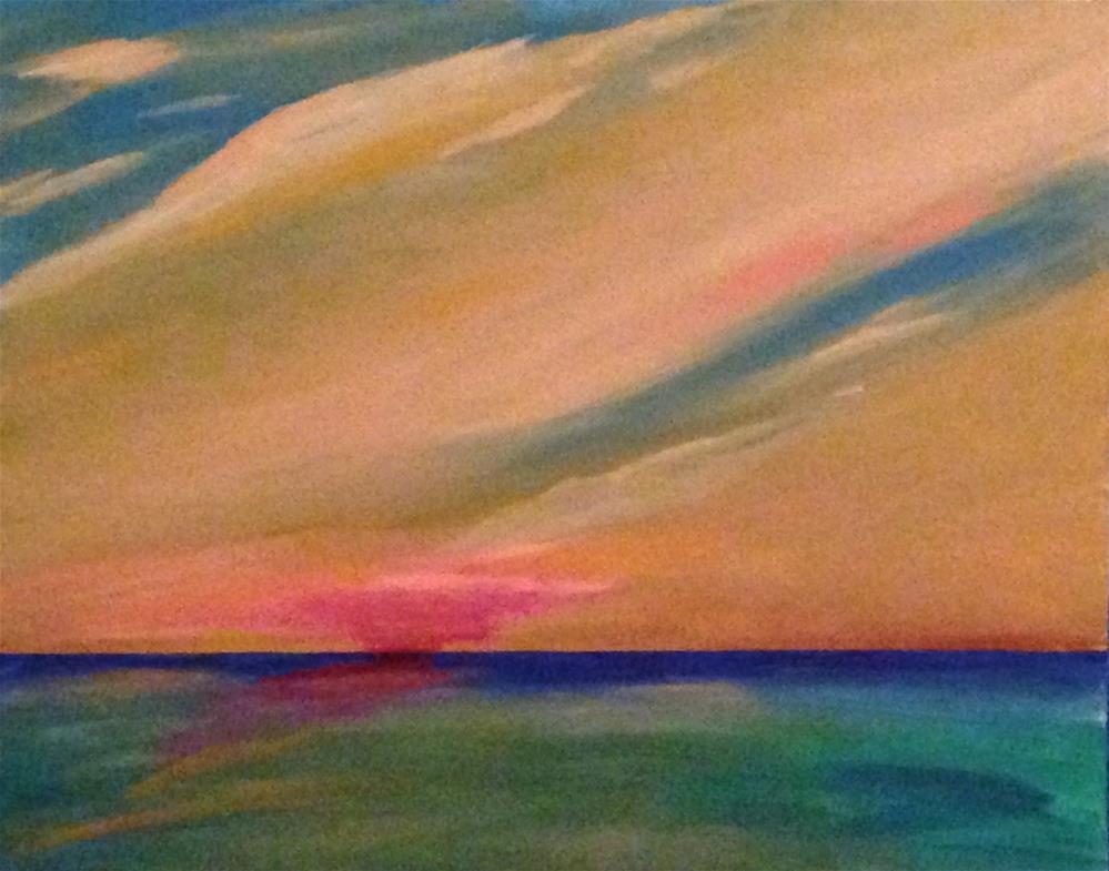 """""""Cloud Drift at Sunset"""" original fine art by Brenda Smith"""