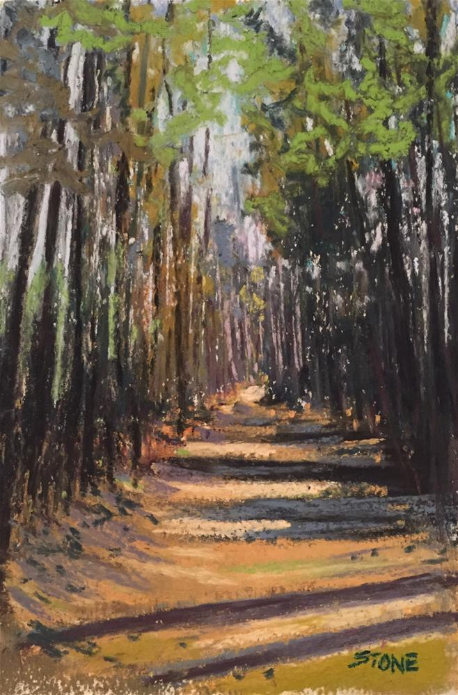 """A Walk Through the Woods"" original fine art by Greg Stone"
