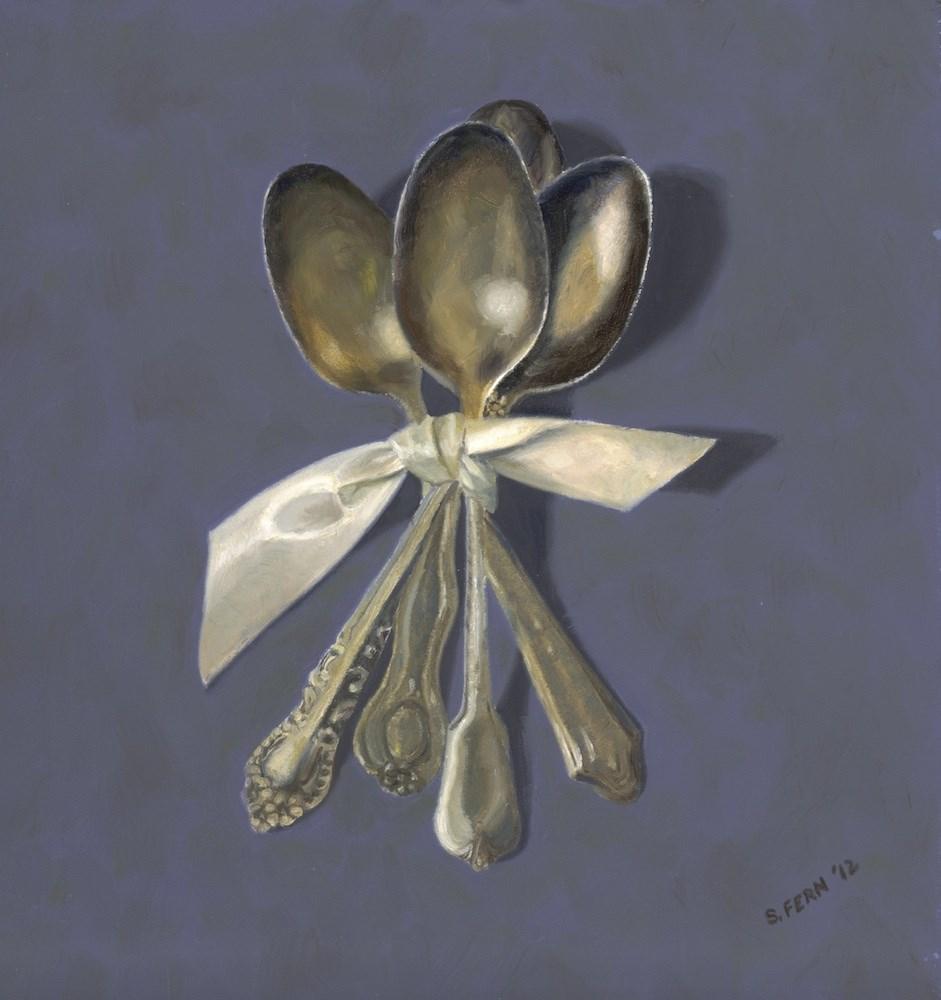 """Antique Spoons"" original fine art by Susan Fern"