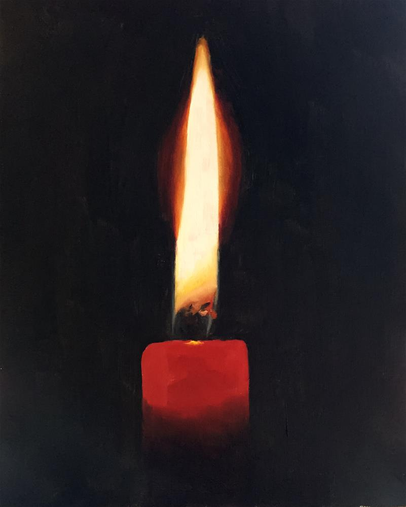 """Candle 2"" original fine art by James Coates"