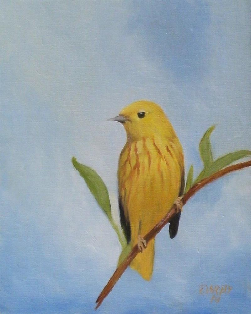 """Yellow Warbler"" original fine art by Lynn Darby"