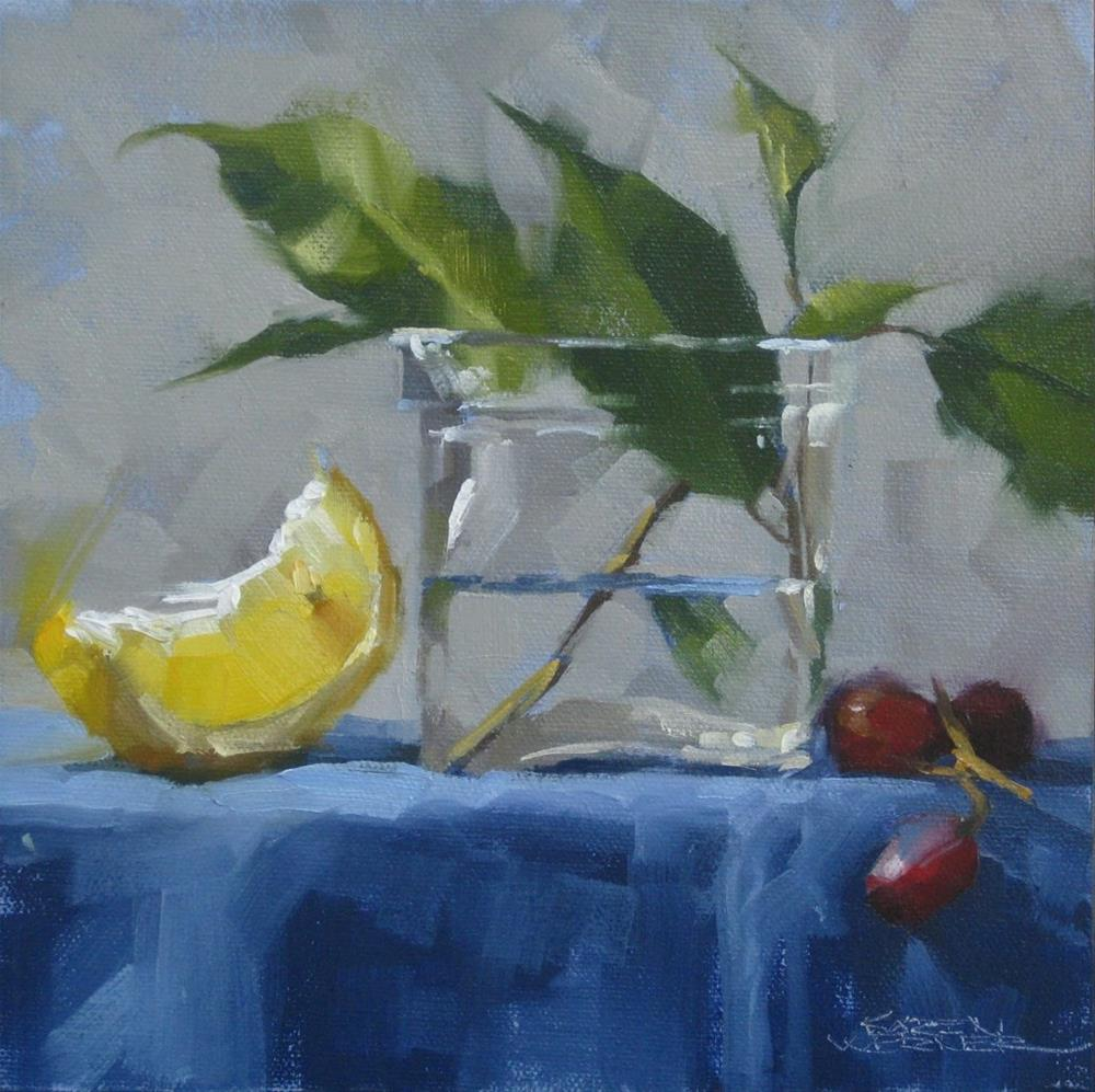 """Luminous Lemon"" original fine art by Karen Werner"