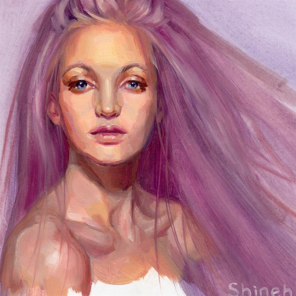 """Color Series: Purple"" original fine art by Shineh Kim Yoon"