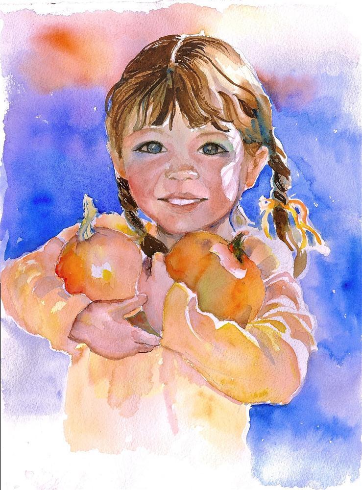 """Little Punkins"" original fine art by Reveille Kennedy"