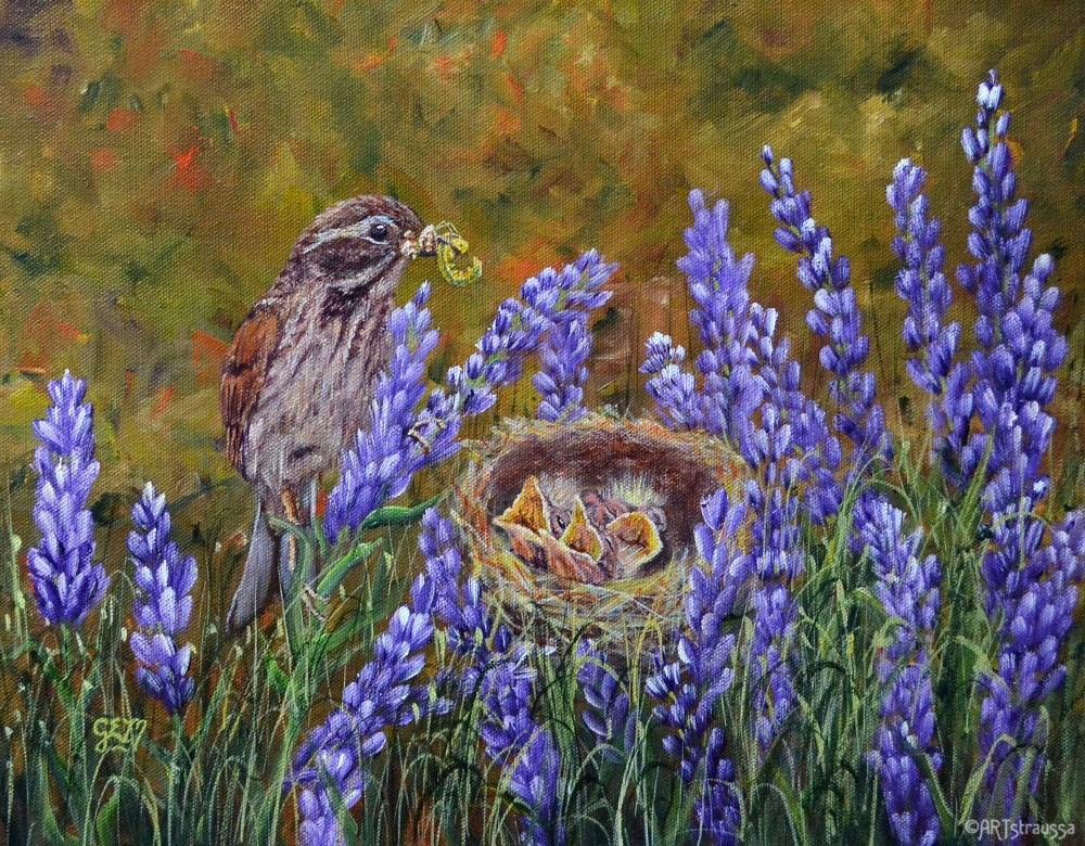 """Motherly Duties"" original fine art by Gloria Ester"