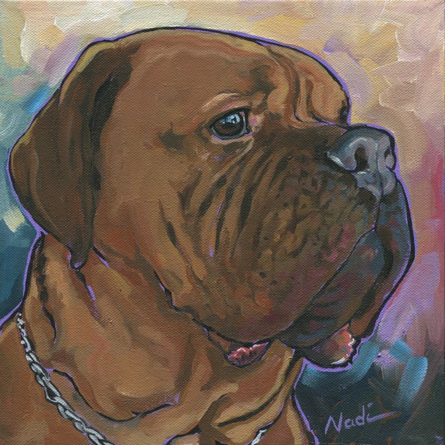 """Ziggy"" original fine art by Nadi Spencer"