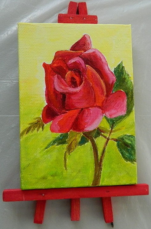 """Rose & easle"" original fine art by Gloria Urban"