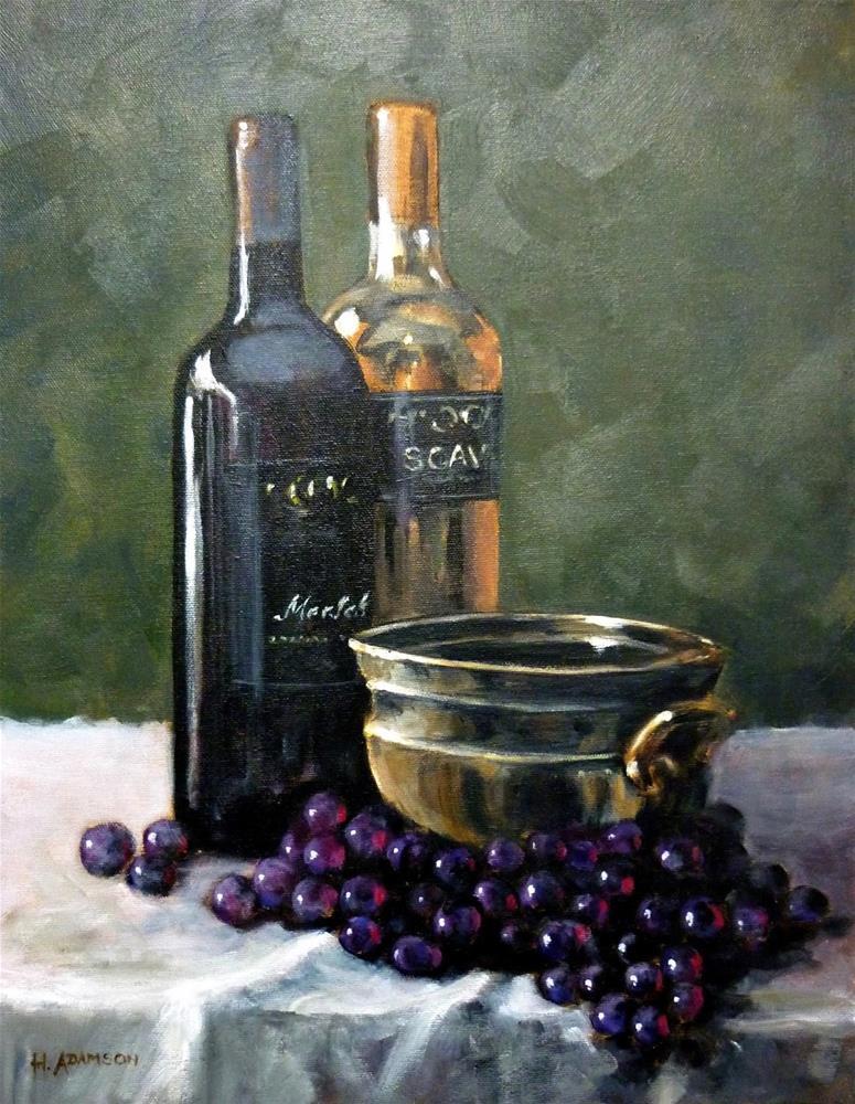 """Vino Classico"" original fine art by Helene Adamson"