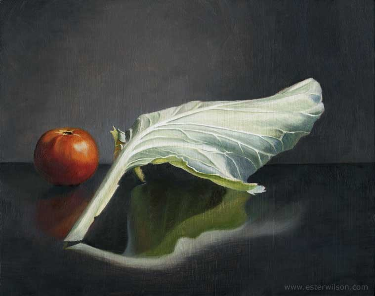 """Cabbage and Tomatoe"" original fine art by Ester Wilson"