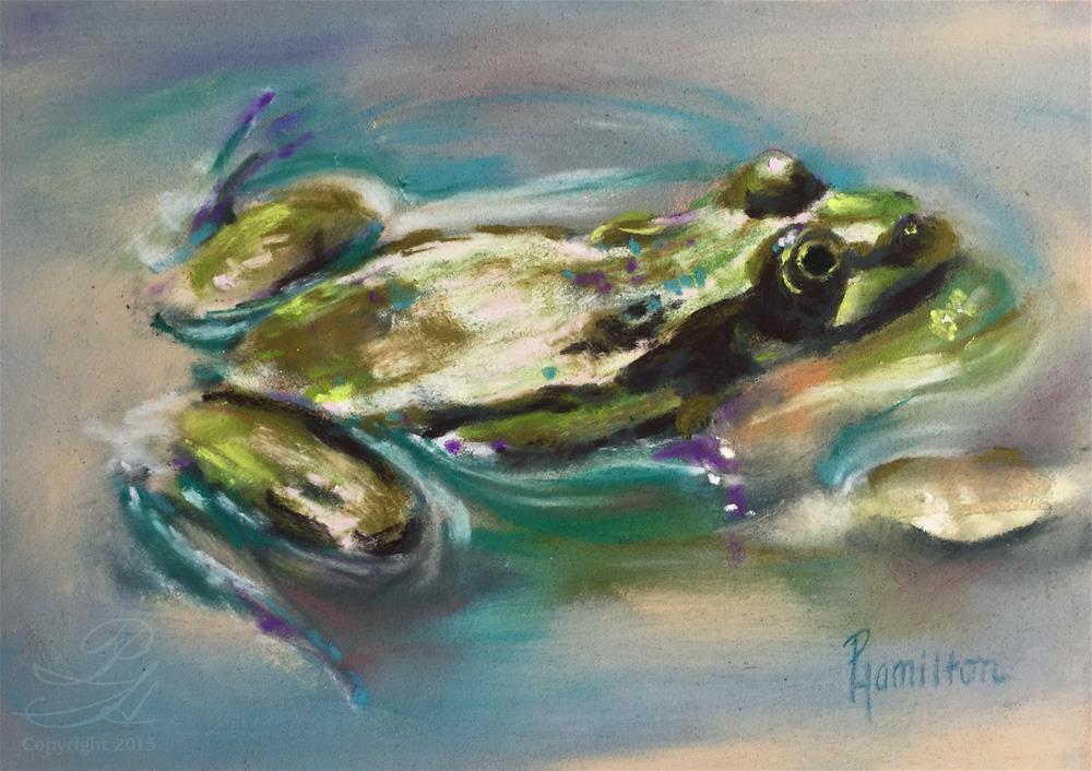 """Ribbit"" original fine art by Pamela Hamilton"