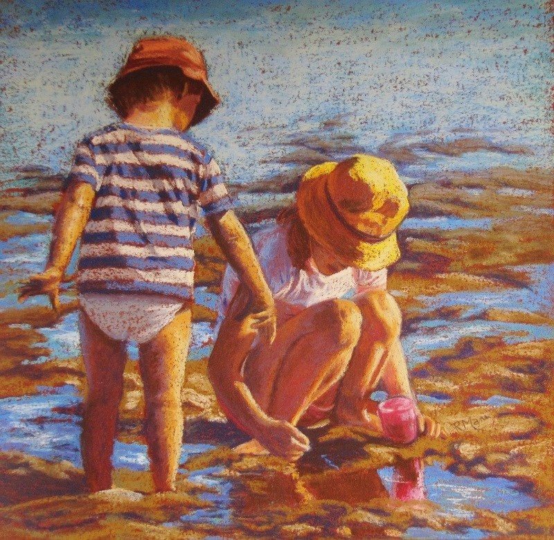 """Treasure Hunt"" original fine art by Ruth Mann"