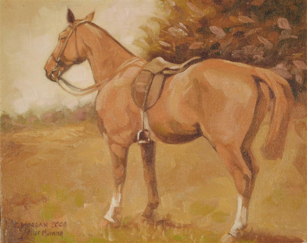 """After Munnings"" original fine art by Cecile W. Morgan"