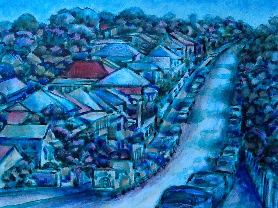 """112 ANNIE STREET 2"" original fine art by Trevor Downes"