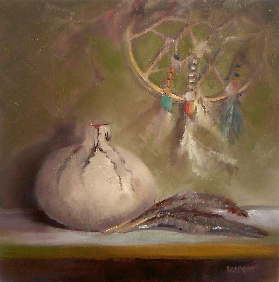 """""""Dream Transfer"""" original fine art by A.K. Simon"""