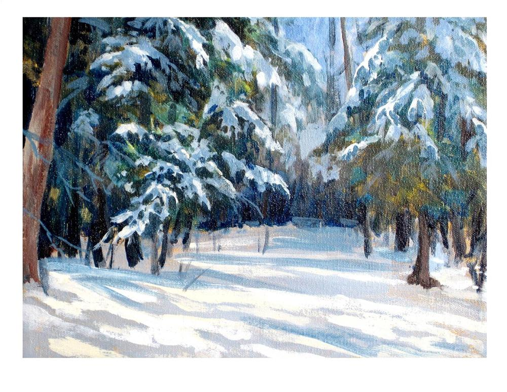 """Winter Shadows"" original fine art by Suzanne Woodward"