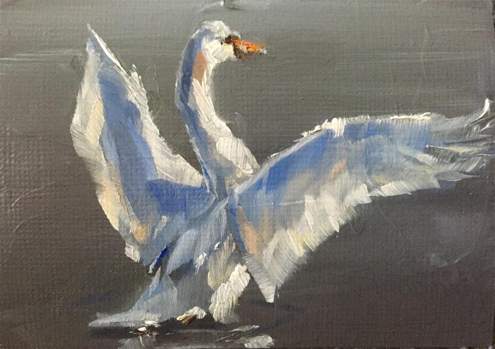 """Wing Stretch"" original fine art by Gary Bruton"