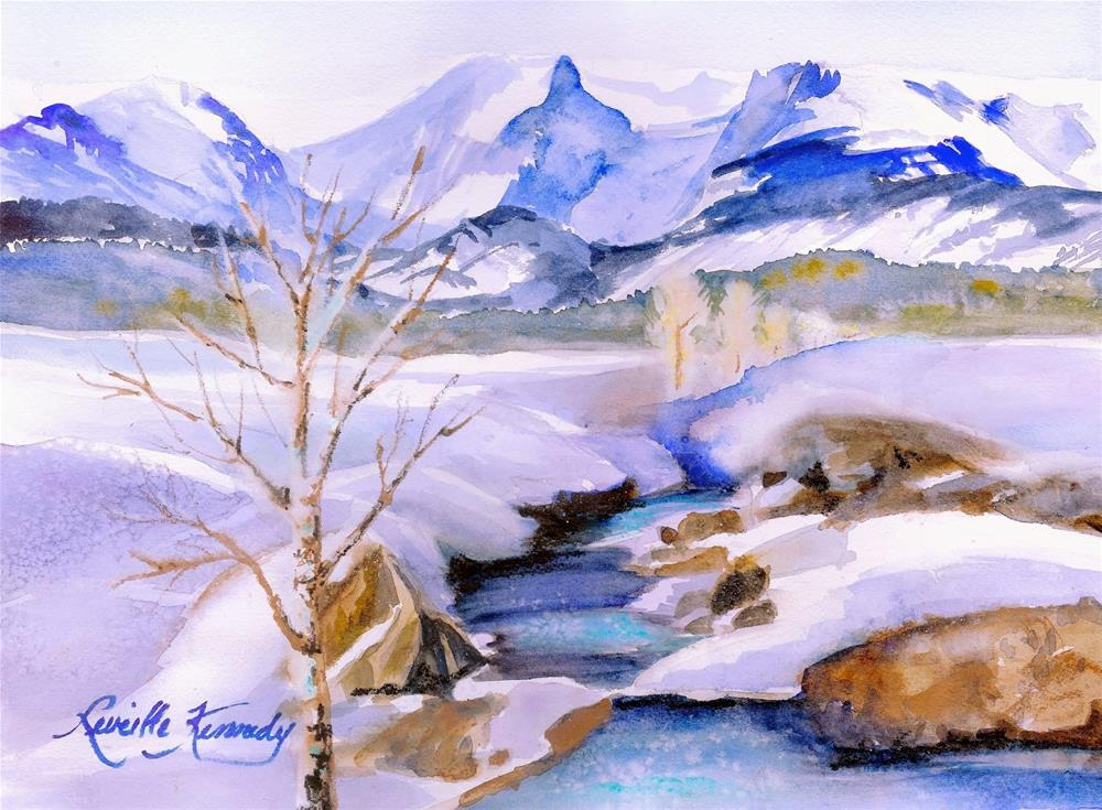 """Stunning Snowscape"" original fine art by Reveille Kennedy"