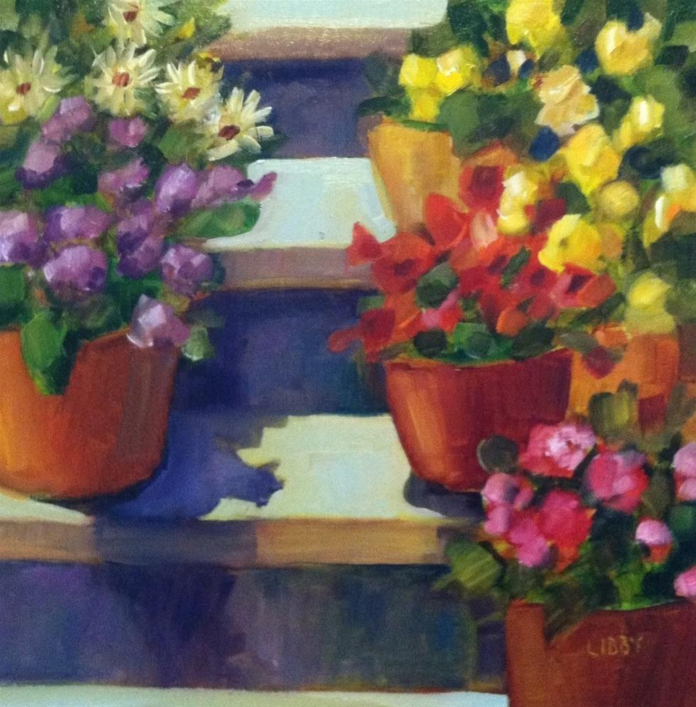 """Flower Stage"" original fine art by Libby Anderson"