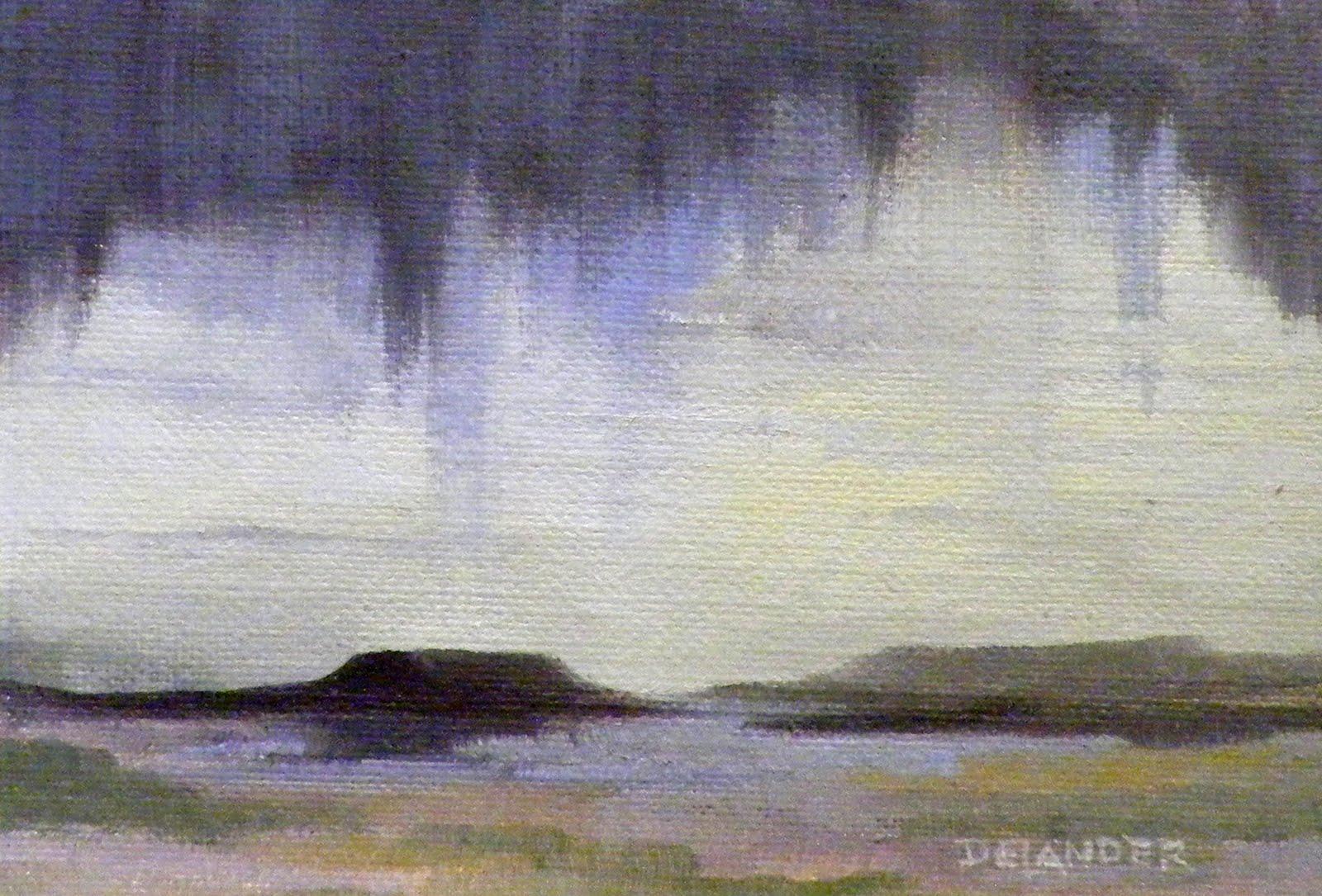 """Blue Rain Black Mesa"" original fine art by Diana Delander"
