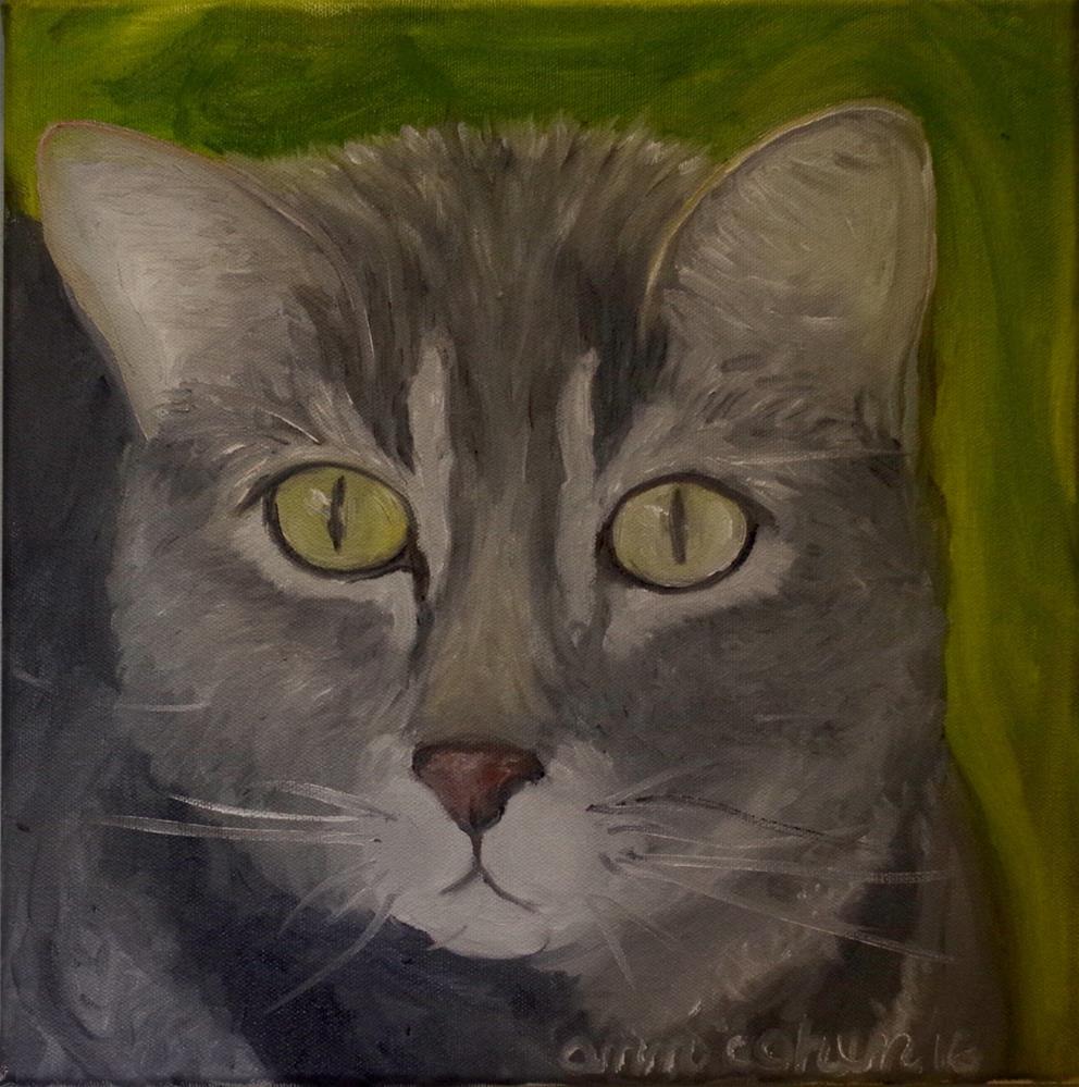 """Pit-a-Pat"" original fine art by Ann Cohen"