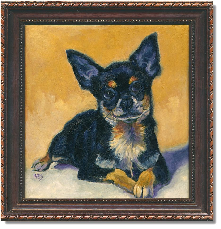 """Framed Chihuahua"" original fine art by Rk Ives"