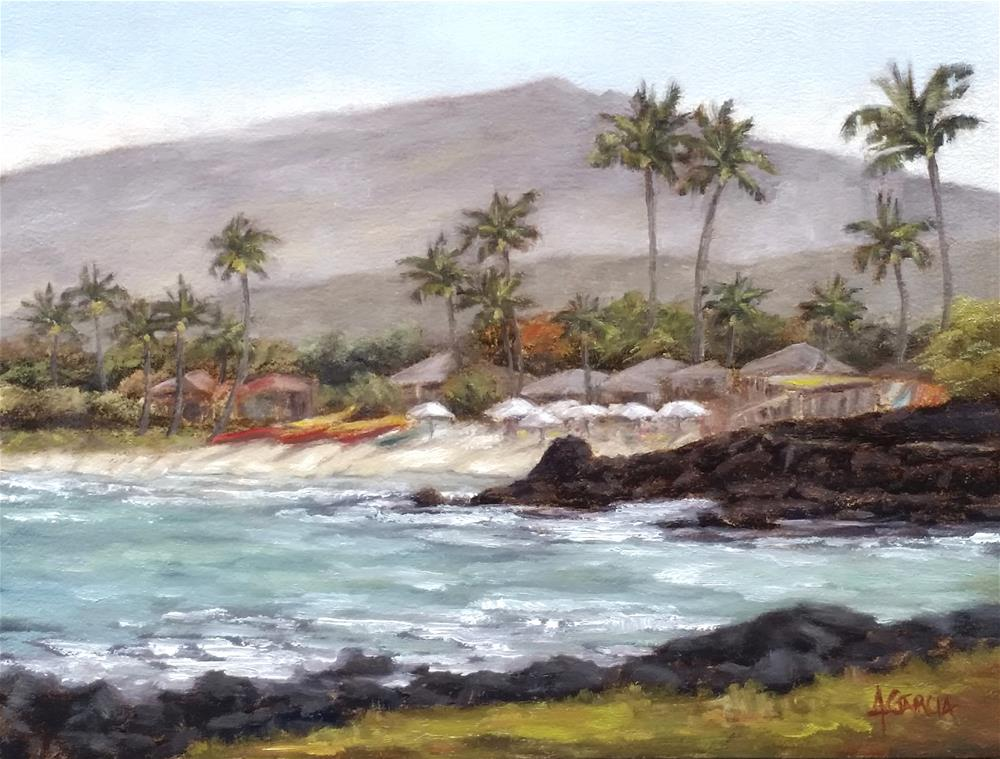 """Kukio Beachside"" original fine art by Jeannie Garcia"