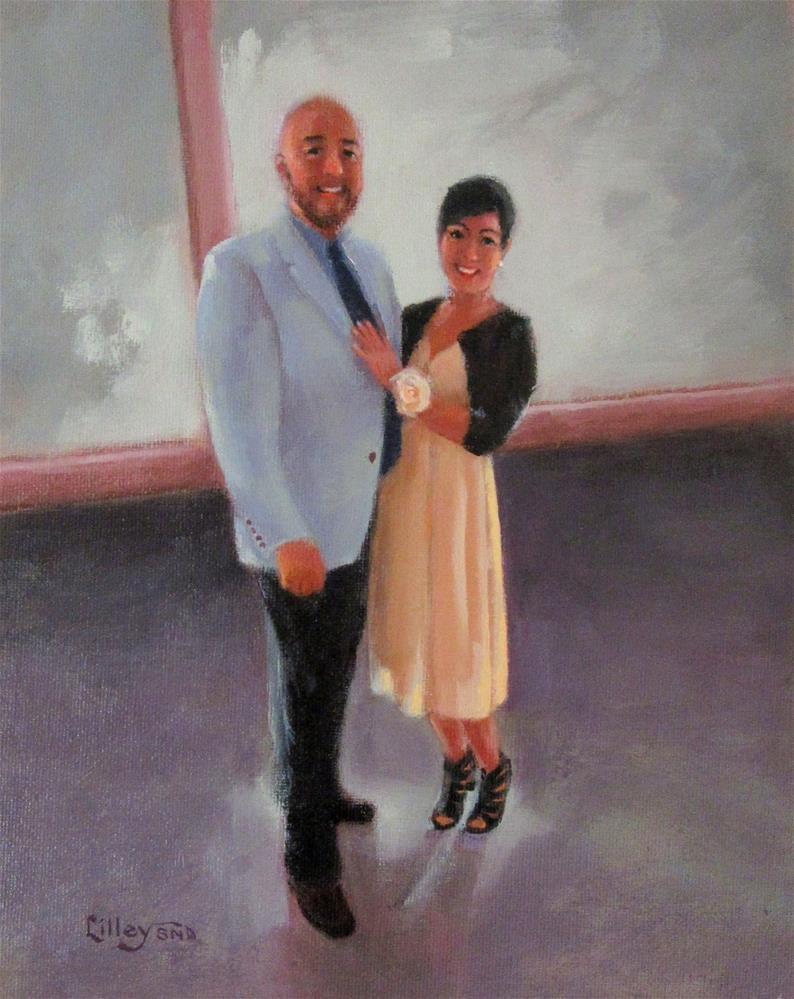 """Josh and Marisa"" original fine art by Maresa Lilley"