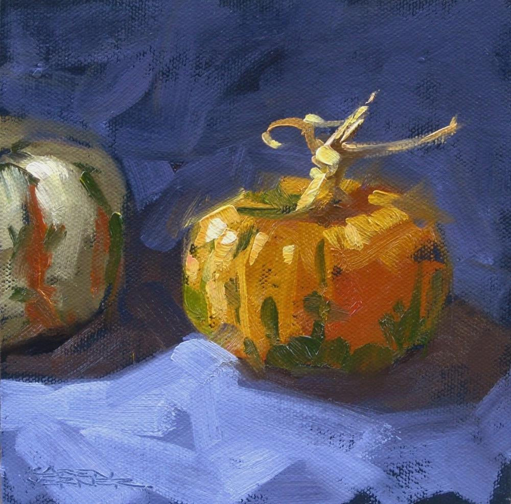 """Happy Little Pumpkin"" original fine art by Karen Werner"