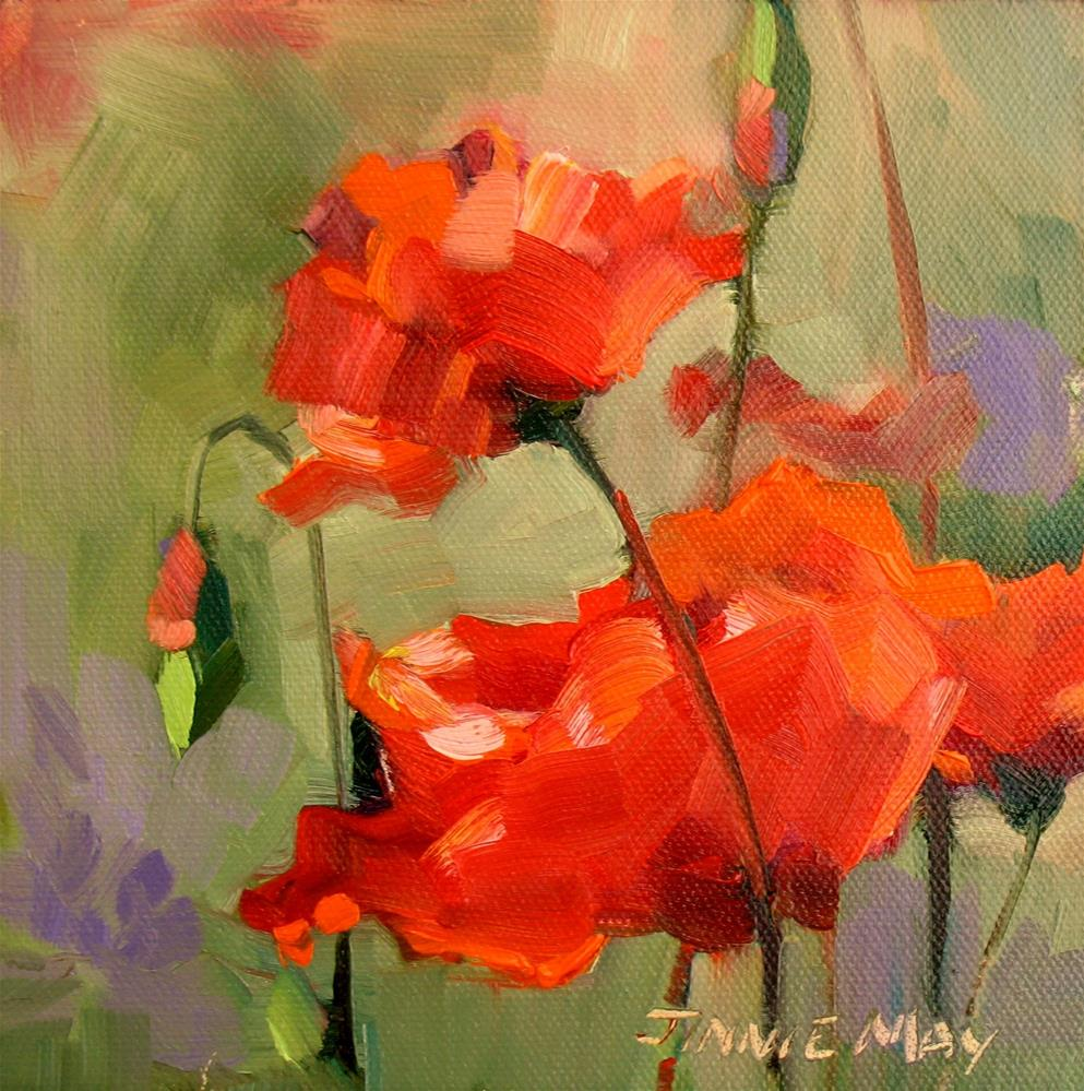 """""""Poppies- France"""" original fine art by Jinnie May"""