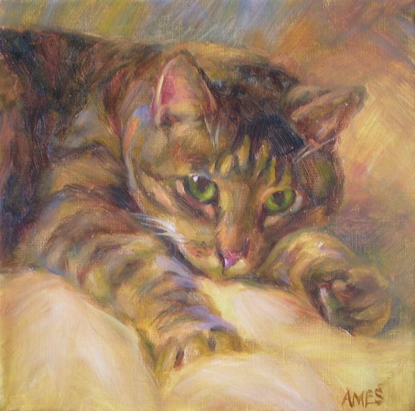 """""""Shy Oscar"""" original fine art by Debra Ames"""