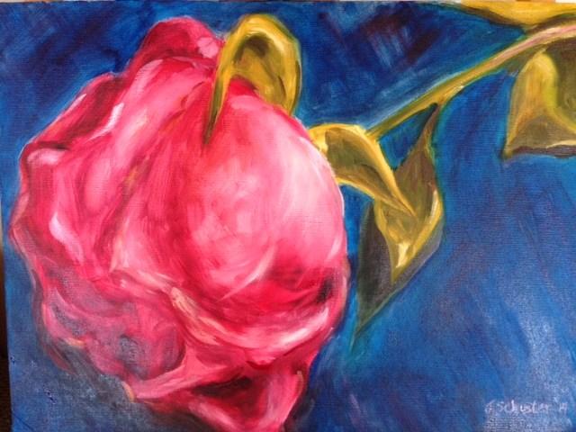 """Pink rose, wilting"" original fine art by Juli Schuster"