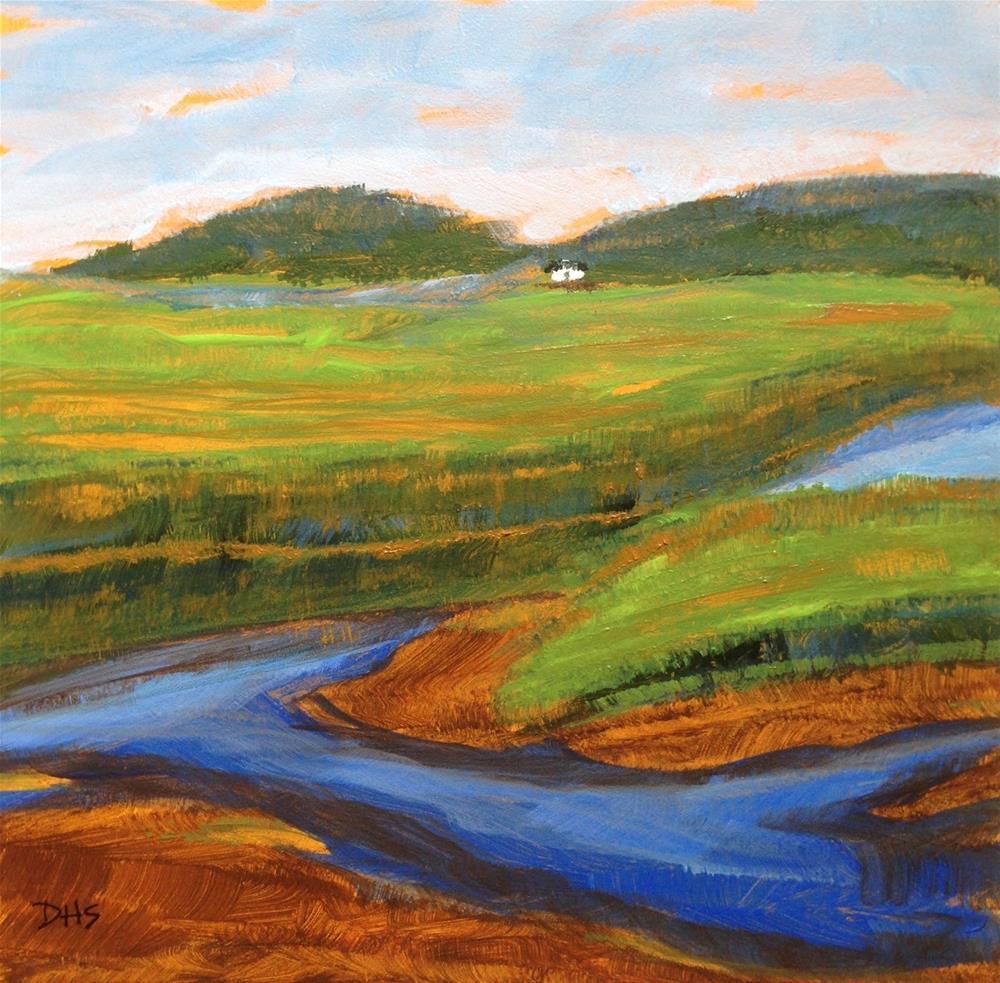 """Farnham Flats"" original fine art by Dotty  Seiter"