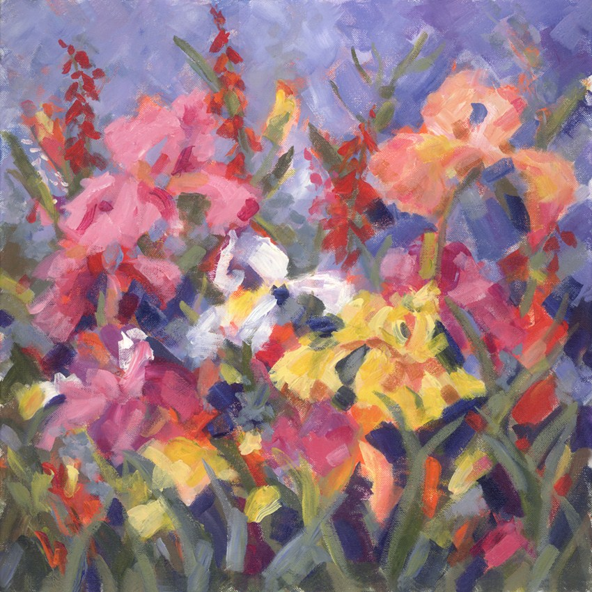 """Iris Everywhere"" original fine art by Pamela Gatens"